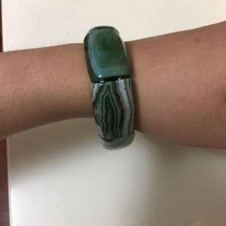 Dark Green Stone Bracelet