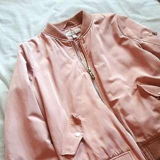 Pastel Pink Bomber Jacket