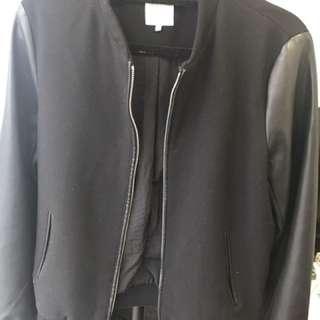 Zara Bomber jacket with leather Sleves