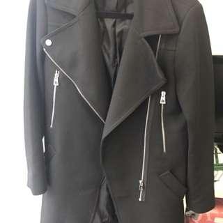 Zara Woman Long Coat Black
