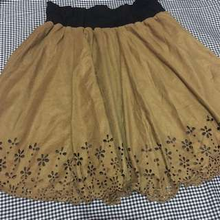 Brown Flare Skirt