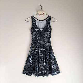 BLACKMILK Spellbound Reversible Skater Dress