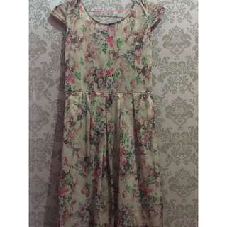 REPRICE Brown Flower Dress
