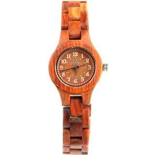 Redear Vienna Series Red Sandalwood Wood Wooden Watch