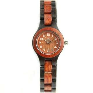 Redear Vienna Series Red Sandalwood & Ebony Wood Wooden Watch