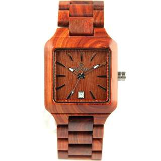 Redear Budapest Series Red Sandalwood Wood Wooden Watch