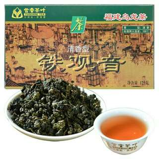 云香茶叶铁观音- 福建乌龙茶 標準烤火溫度 100c 香型:清香 TikuanYin Tea Oolong Tea Standard roasted fire temperature 100c Fragrance: Fragrance