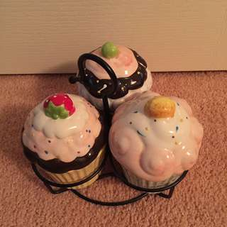 *donation* Cup Cake Ceramic Containers