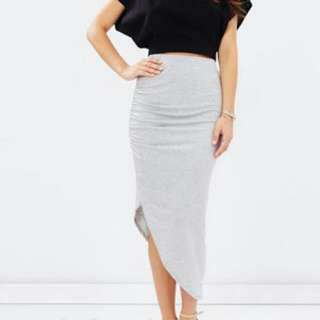 Atmos & Here Asymmetrical Skirt Grey