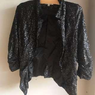 Black Sequinned Jacket 8/10