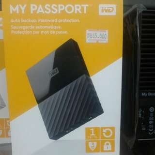 WD My Passport New Design Black , White ,yellow