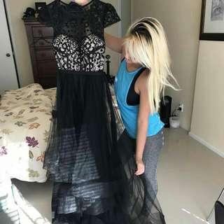 long ball fluffy dress