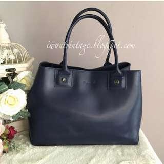 Agnes B Top Handle Bag-Blue