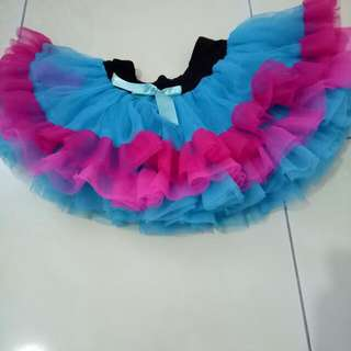Puffy Rainbow Skirt Xs Size