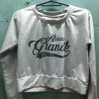 Ariana Grande Crop Top (long sleeves)