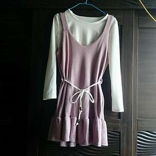 粉色魚尾裙套裝