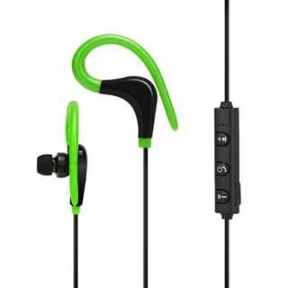 Bluetooth Wireless Headset   Green
