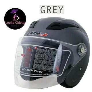 HNJ Motorcycle Helmet Open face (Grey)
