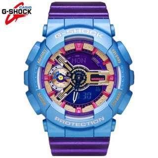 G-SHOCK GMA-S110HC-6A S-Series Metallic Hyper Color Blue New Genuine