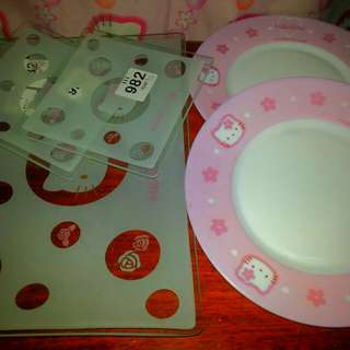 hello kitty round plates and serving plates