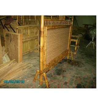 🚚 S20170508燒烤竹簾有腳屏風--大型傢俱依遠近距離計算