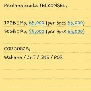 Kuota Telkomsel Murah 12gb & 30gb