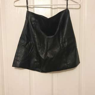 BARDOT LEATHER MINI SKIRT
