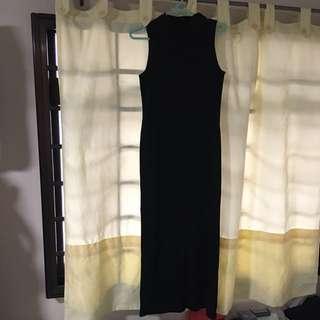 Long Stretchable Black Dress