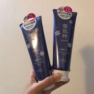 日本帶回的現定雪肌粹加量版洗面乳