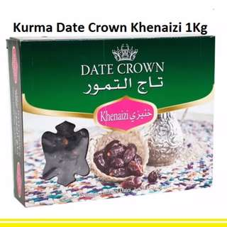 Kurma Date Crown Jenis Khenaizi 1 Kg Kemasan Box