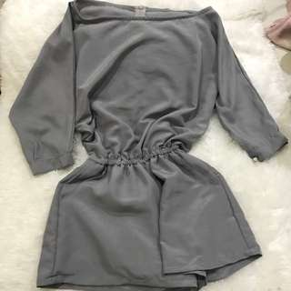 Mode Look A Like Jumpsuit Grey