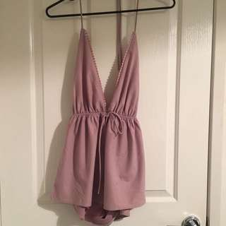 Cute Backless Xs Playsuit