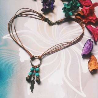 Turquoise String Choker