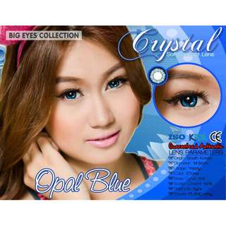 Opal blue Crystal contact lenses