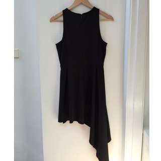 Sz 12 Asymmetrical black dress