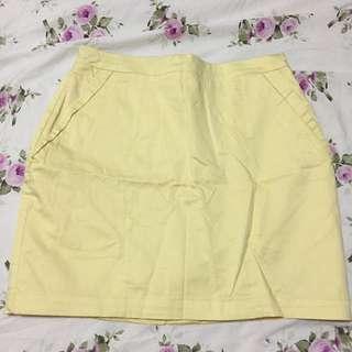 H&M Yellow Skirt US 6
