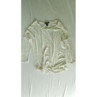 FOREVER 21 Sheer long sleeved top