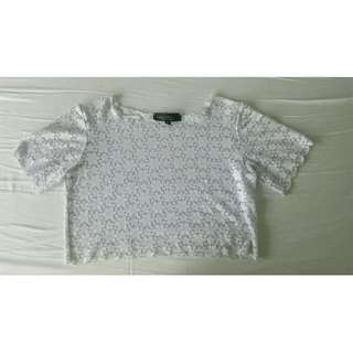 TOP SHOP White lace top