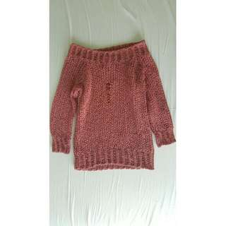 Mauve knitted top