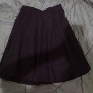 preloved but new : rok flare skirt coklat