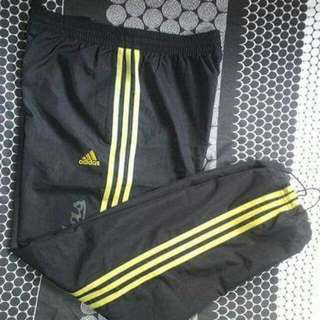 Authentic Adidas Jogging Track Pants Yellow Gold Stripes