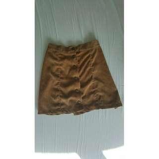 COPPER brown corduroy skirt