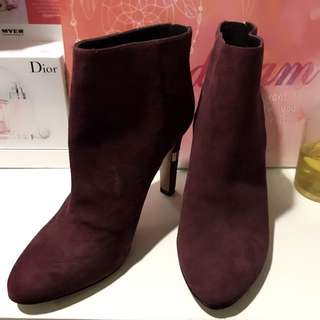 NINE WEST Red Wine Ankle Boot High Heels