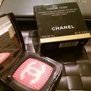 Chanel Poudre Tissee Highlighting Powder And Blush