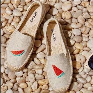 現貨出清✨Soludos 西瓜🍉草編鞋