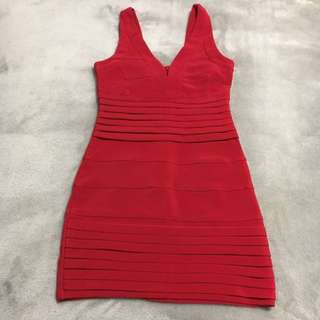 TOBI red Bandage Dress