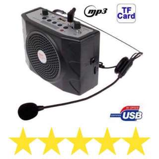 ✅⭐️Portable Body-Pack Amplifier FM /MP3 Player with Lapel