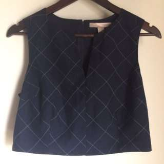Forever 21 Cropped Corporate Top