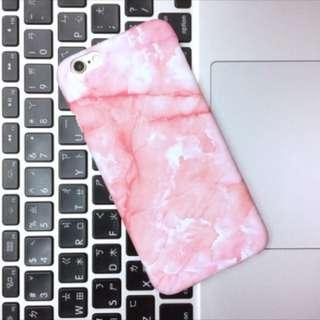 (現貨)粉色大理石紋手機殼硬殼(i6、i7)