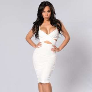 Fashion Nova White Dress - XS
